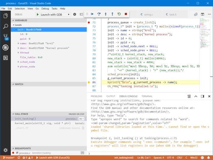 User:TheCool1Kevin/VSCode Debug - OSDev Wiki